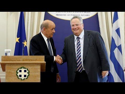 Ελλάδα: Συνάντηση Λε Ντριάν με Τσίπρα και Κοτζιά