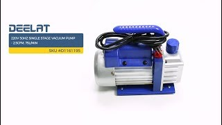 220V 50Hz Single Stage Vacuum Pump - 2.5CFM, 75L/Min     SKU #D1161195