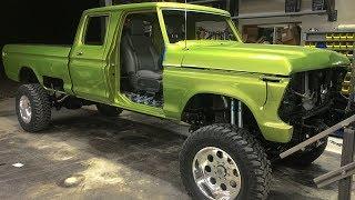 1970 Ford F250 Super Duty Cummins Turbo Diesel Crew Cab Lifted 4x4 Off-Road Truck Build Project