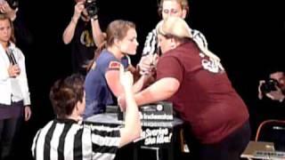 Arm Wrestling - Heidi Andersson Vs Zhanna Chingule