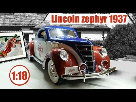 Auto World - AW205 Lincoln Zéphyr Coupé - Pepsi 1937 - Echelle 1/18 *NEUF*