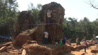 Chuyên gia Ấn Độ tiến hành trùng tu Di sản Văn hóa thế giới Mỹ Sơn - Quảng Nam