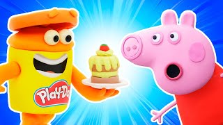 Peppa Pig Official Channel | Peppa Pig's Cake Goes Wrong | Play-Doh Show Stop Motion