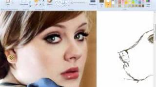 Drawing Adele - MS Paint