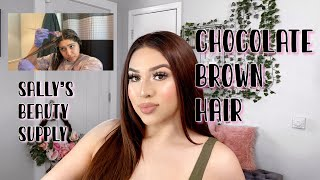 Dying My Hair CHOCOLATE BROWN HAIR AT HOME | IRRESISTIBLE ME HAIR EXTENSIONS FORST IMPRESSION