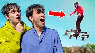 Real Hoverboard flying over Team RAR House!! (Hunter Kowald)
