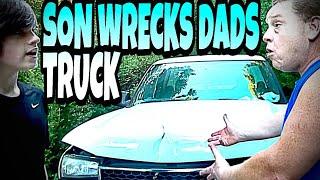 WILLIAM WRECKS BILLS TRUCK!!!