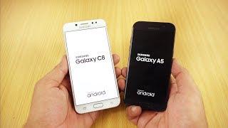 Samsung Galaxy C8 vs Galaxy A5 (2017) Speed Test [Urdu/Hindi]