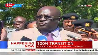 Education CS Professor George Magoha out in Nakuru to ensure 100% transition