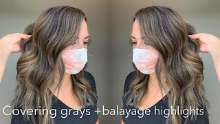 How To Cover Up Gray Hair + Balayage Highlights