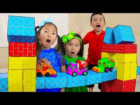 London Bridge is Falling Down | Wendy Jannie & Lyndon Pretend Play Nursery Rhyme Kids Songs