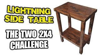 Lightning Side Table - Two 2x4 Challenge