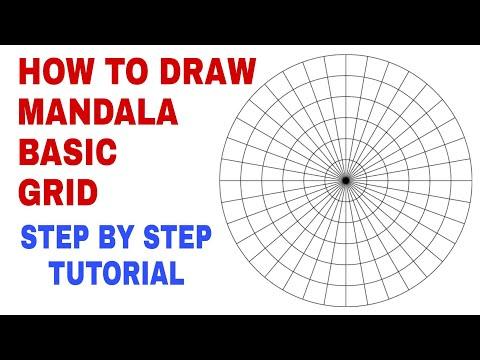 Mandala Basic Grid Tutorial| Step by step perfect Mandala Grid Tutorial for beginners|