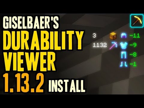 DURABILITY VIEWER MOD 1.13.2 minecraft - how to download and install Durability Viewer 1.13.2