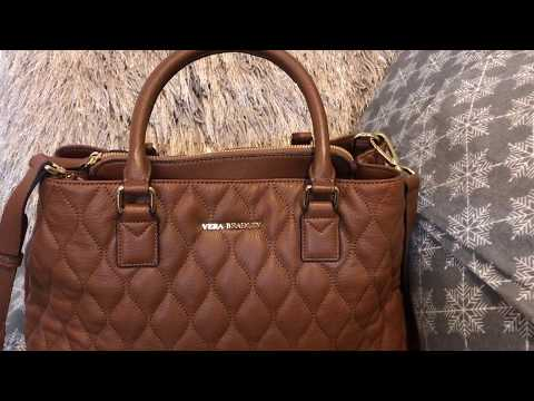 Vera Bradley Quilted Emma Satchel Review & Sophie Wristlet & a quick What's in my bag