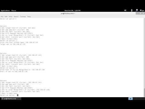 NoSQLMap MongoDB Management Attack Demo