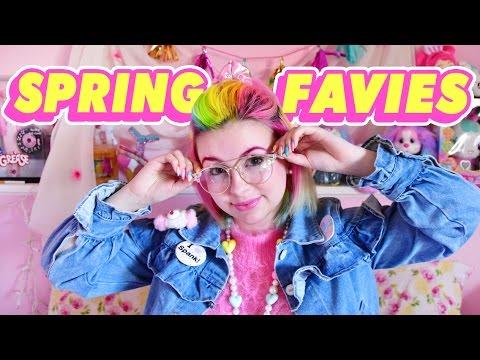 ♡ SPRING FAVIES 2017 | Rainbow Hair, Retro Glasses, & More! ♡