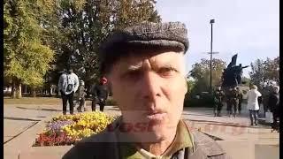 Охрана не позволила николаевскому пикетчику Ильченко подойти к власть имущим