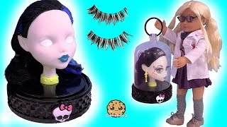 Makeup / Face Makeover On Monster High Style Head ! Toy Video