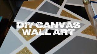 DIY: CANVAS WALL ART | SIMPLE & EASY