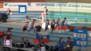 Val de Reuil 2018 : Finale 60 m Juniors M (William Reppert en 6''80)