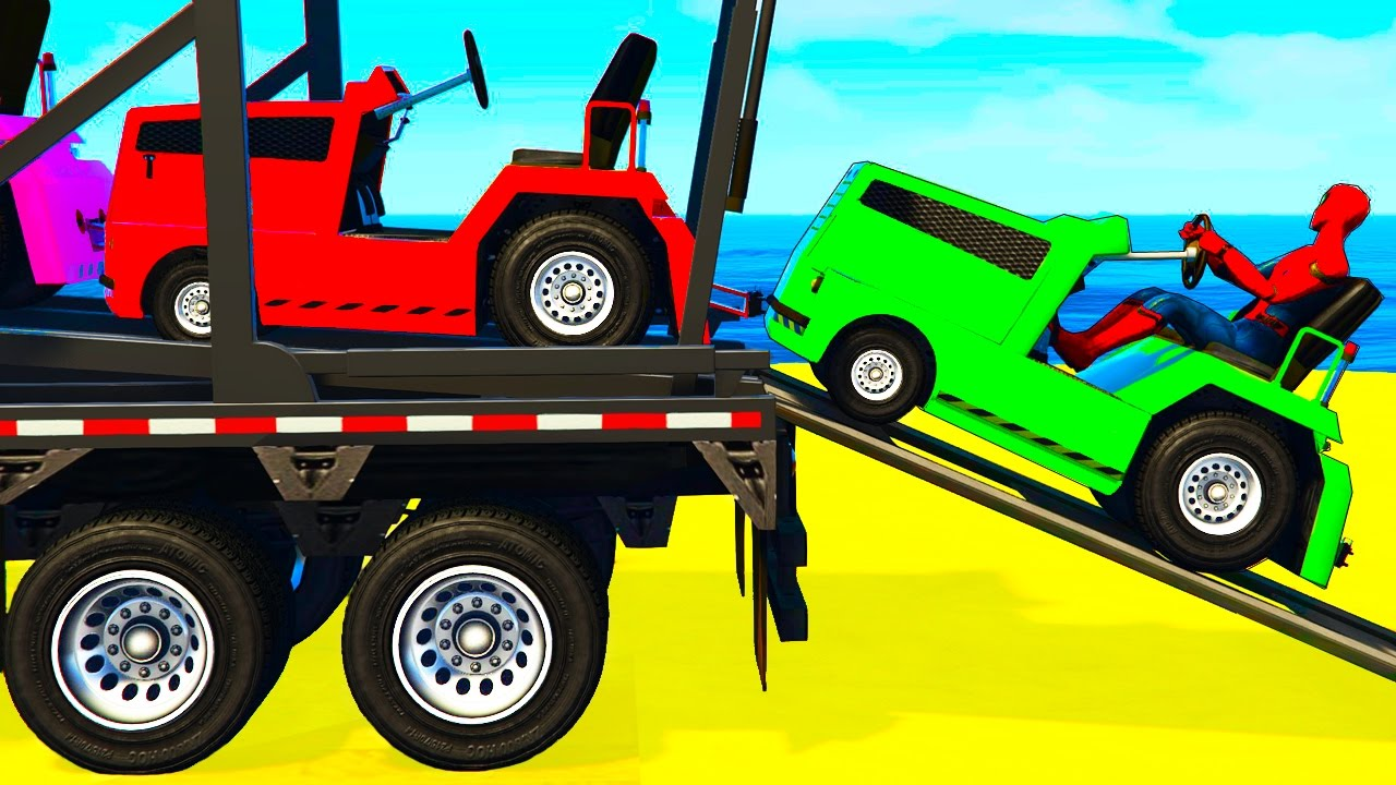 - FUN COLOR CARS Transportation - Cartoon For Kids W Colors For