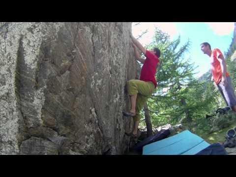 Boulder colle della Lombarda - Happy 6b