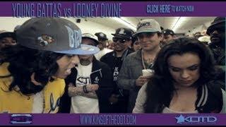 KOTD - Rap Battle - Young Gattas vs Looney Divine (Happy 4/20)