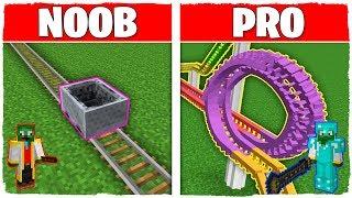 Minecraft NOOB vs PRO: MONTAÑA RUSA en Minecraft!