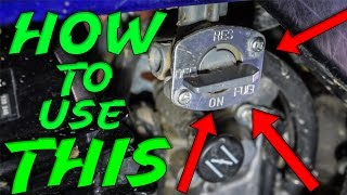 how to use the fuel shut valve on a TW200