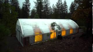 Timelapse of automated, light dep greenhouse in action.  24' x 60' Northern Latitude Greenhouse