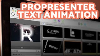 How to add a video with a transparent background in ProPresenter
