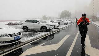preview picture of video 'Snow Fall at Lanzhou'