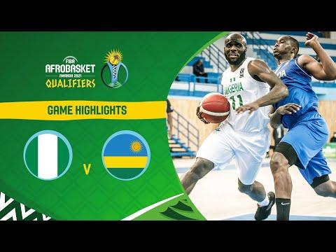 Nigeria - Rwanda   Highlights - FIBA AfroBasket 2021 Qualifiers