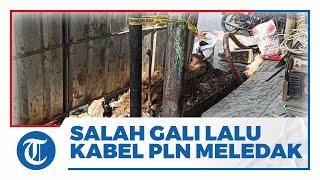 Video Kabel PLN Meledak seusai Petugas Jasa Internet Salah Menggali Lubang