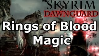 Skyrim: Rings of Blood Magic Quest - Vampire Lord (Dawnguard DLC)