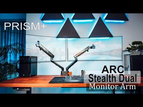 Minimal Dual Monitor Setup - PRISM+ Arc Stealth Dual Monitor Arm Review