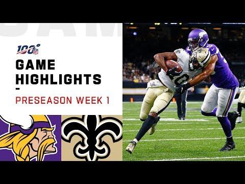 Vikings vs. Saints Preseason Week 1 Highlights   NFL 2019