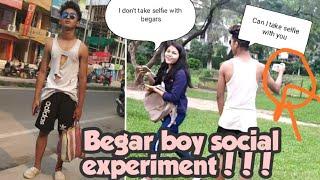 Homeless boy asking selfie from girls(Social Experiment)