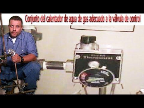 Válvula de control del conjunto de calentador de agua a gas