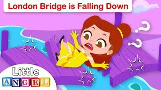 London Bridge Is Falling Down | Princess Belle | Fun Kids Songs & Nursery Rhymes by Little Angel