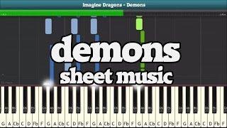 Demons Piano Sheet Music - Easy Piano Tutorial (IMAGINE DRAGONS)