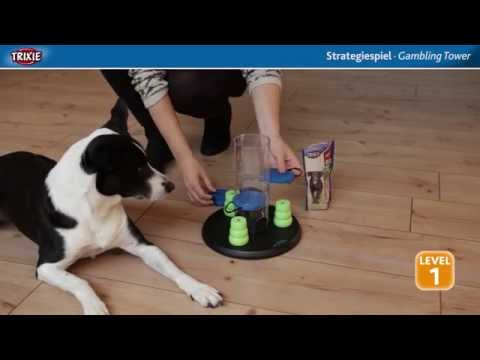 Dog Activity Strategiespiel Gambling Tower von Trixie. Intelligenzspielzeug für Hunde.