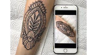Mandala Tattoo Time Lapse - Asmr