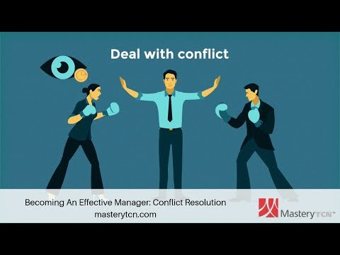 Becoming An Effective Manager: Conflict Resolution - Training ...