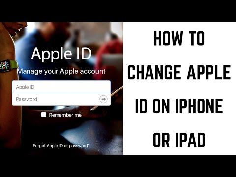 How to Change Apple ID on iPhone or iPad