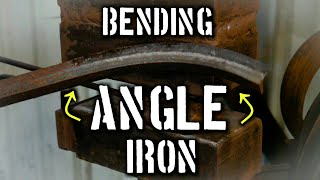 How to Bend Angle Iron by Hand or with a Power Hammer