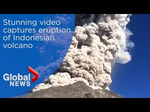 Stunning Video Captures Eruption Of Indonesian Volcano