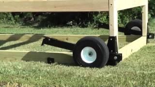 Chicken Tractor Wheel Kit