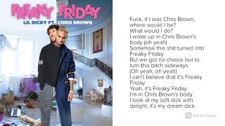 Lil Dicky - Freaky Friday (Ft. Chris Brown) - Lyrics